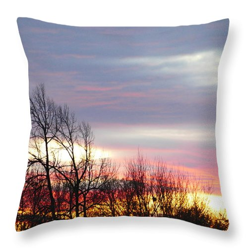 Idaho Sunset Throw Pillow featuring the photograph Horizon by Paul Stanner
