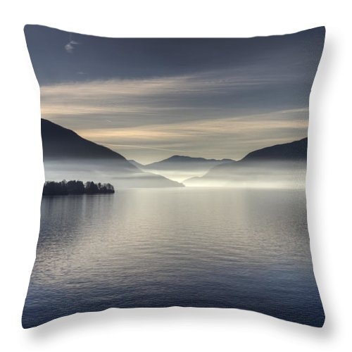 Travel Throw Pillow featuring the photograph Lake Maggiore by Joana Kruse