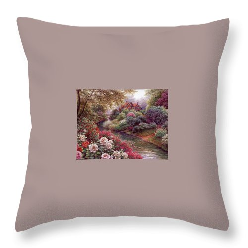 Shrub Throw Pillow featuring the digital art lrs Peeters Henry No Tltle Henry Peeters by Eloisa Mannion