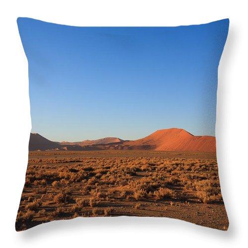 Kalahari Throw Pillow featuring the photograph Sossusvlei Dunes by Davide Guidolin