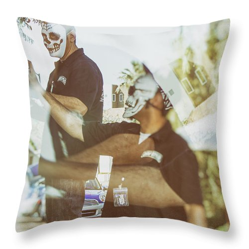 Graffiti Throw Pillow featuring the photograph Loved Ones by Marit Runyon