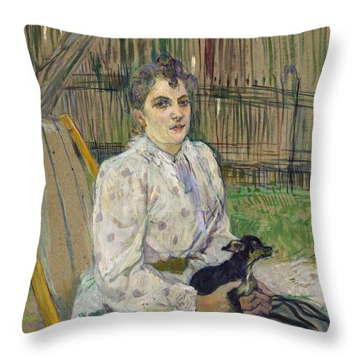 Dog Throw Pillow featuring the painting Lautrec by Henri De Toulouse