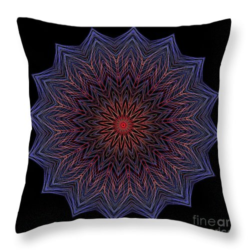 Electric Throw Pillow featuring the digital art Kaleidoscope Image Created From Light Trails by Amy Cicconi
