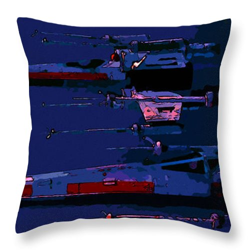 Star Wars Throw Pillow featuring the digital art Star Wars by Elena Kosvincheva