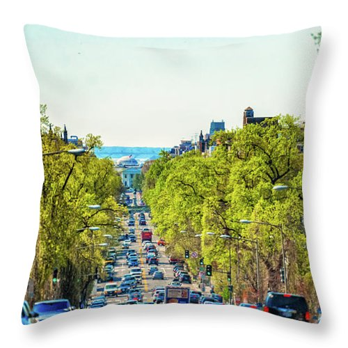 Dc Throw Pillow featuring the photograph 16th Street Northwest by John Jack