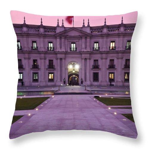 South America Throw Pillow featuring the photograph Santiago De Chile by Karol Kozlowski