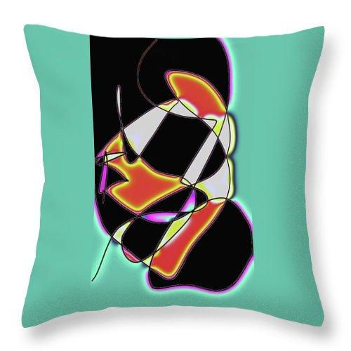 Jgyoungmd Throw Pillow featuring the digital art 170105b by Jgyoungmd Aka John G Young MD