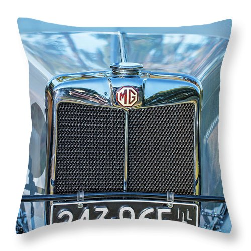 1930 Mg Throw Pillow featuring the photograph 1743.040 1930 Mg Classic Car by M K Miller