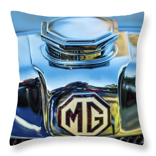 1930 Mg Throw Pillow featuring the photograph 1743.040 Logo 1930 Mg by M K Miller