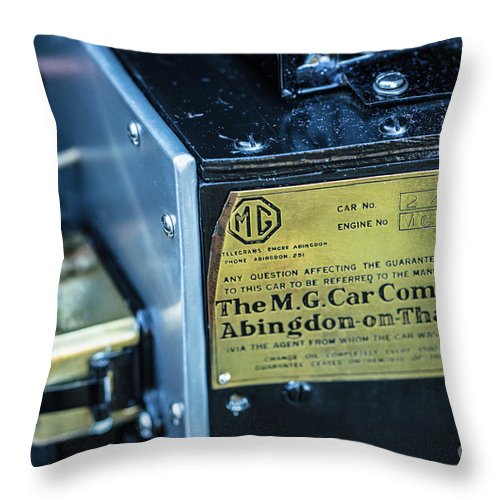 1930 Mg Throw Pillow featuring the photograph 1743.045 Plate1930 Mg by M K Miller