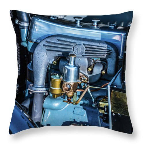 1930 Mg Throw Pillow featuring the photograph 1743.047 Inside1930 Mg by M K Miller