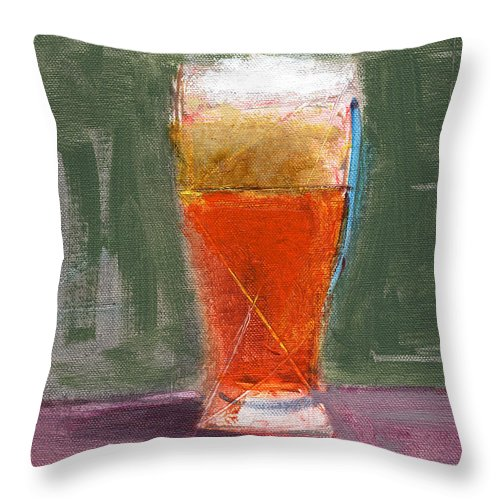 Beer Throw Pillow featuring the painting Rcnpaintings.com by Chris N Rohrbach