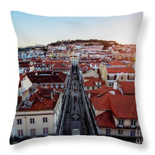 Lisbon Throw Pillow featuring the photograph Lisbon, Portugal by Karol Kozlowski