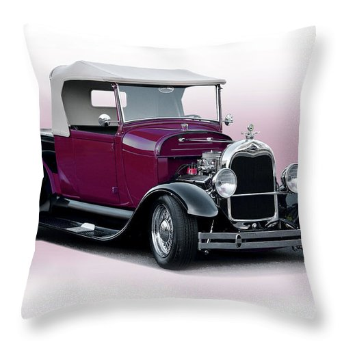 Auto Throw Pillow featuring the photograph 1928 Ford Roadster Pickup I by Dave Koontz