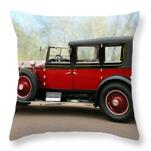 Classic Car Throw Pillow featuring the photograph 1928 Rolls-royce Phantom 1 by Jill Reger
