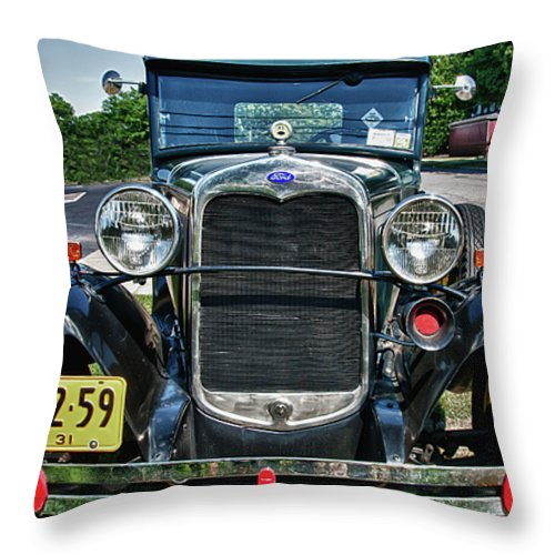1931 Ford Throw Pillow featuring the photograph 1931 Ford 7374 by Guy Whiteley