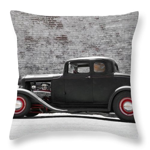 1932 Ford Throw Pillow featuring the photograph 1932 Ford Coupe by Steve McKinzie