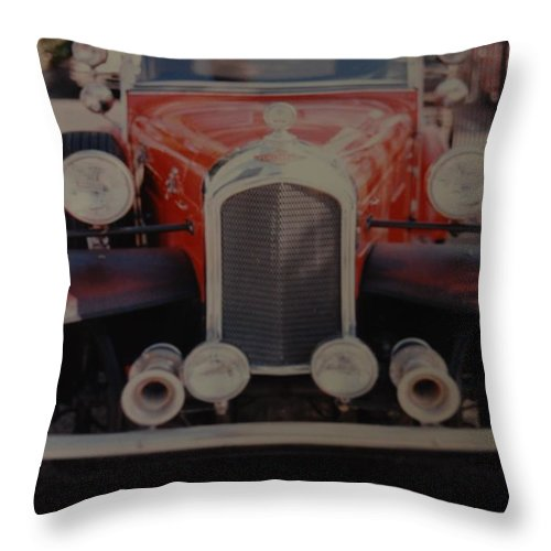 Car Throw Pillow featuring the photograph 1932 by Rob Hans