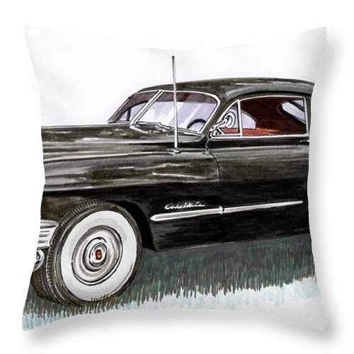 Framed Prints Of Cadillacs. Framed Canvas Prints Of Cadillac Fine Art. Famed Art Of Cadillac Hard Top Convertibles. Framed Art Of Great American Classic Cadillacs. Throw Pillow featuring the painting 1949 Cadillac Sedanette by Jack Pumphrey