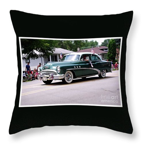America Throw Pillow featuring the photograph 1953 Buick Special by Frank J Casella