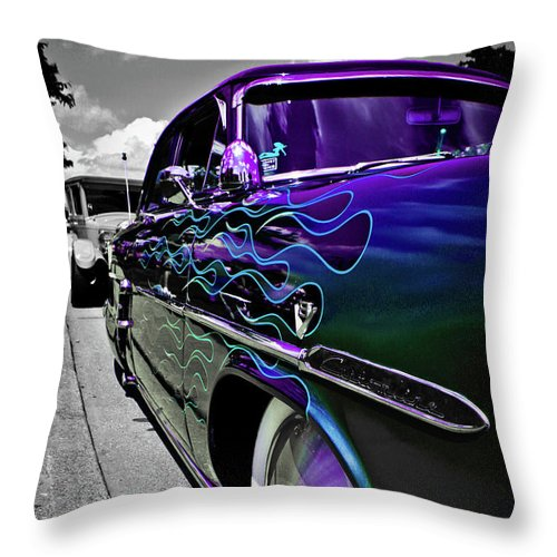 1953 Ford Customline Throw Pillow featuring the photograph 1953 Ford Customline by Joann Copeland-Paul