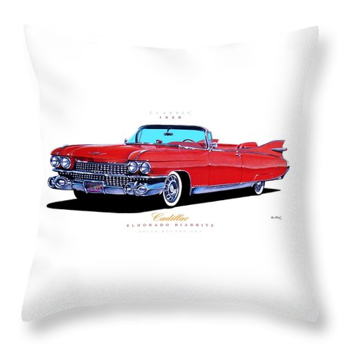 1959 Cadillac Eldorado Biarritz Throw Pillow For Sale By Brian Roland