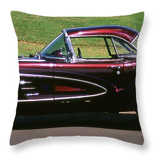Vintage Cars Throw Pillow featuring the photograph 1960 Corvette by Jim Cazel