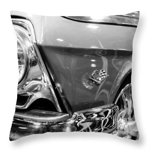 1962 Chevrolet Belair Throw Pillow featuring the photograph 1962 Chevrolet Belair Bubbletop by SR Green