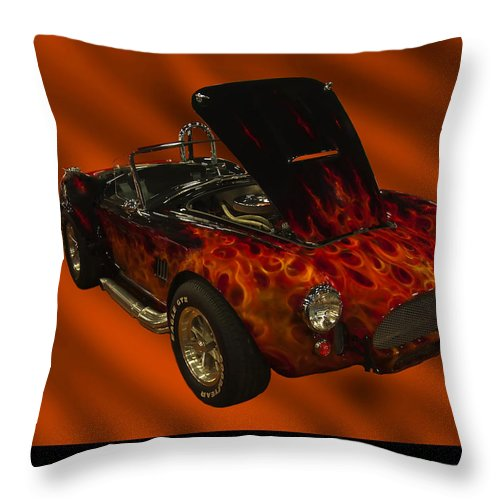 1960s Cars Throw Pillow featuring the photograph 1965 Shelby Cobra by Chris Flees