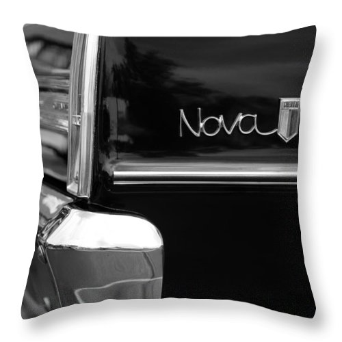 Chevy Throw Pillow featuring the photograph 1966 Chevy Nova II by Gordon Dean II