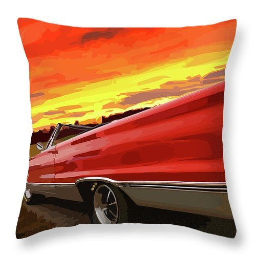 426 Throw Pillow featuring the photograph 1967 Plymouth Satellite Convertible by Gordon Dean II