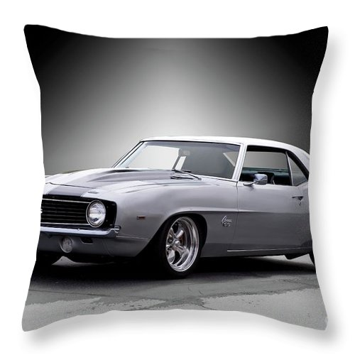 Automobile Throw Pillow featuring the photograph 1968 Chevrolet Camaro Ss Ll by Dave Koontz