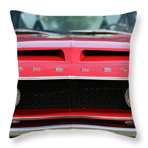 1968 Throw Pillow featuring the photograph 1968 Ford Mustang Shelby Gt500 Kr by Gordon Dean II