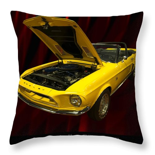 1960s Cars Throw Pillow featuring the photograph 1968 Shelby Gt 500kr by Chris Flees