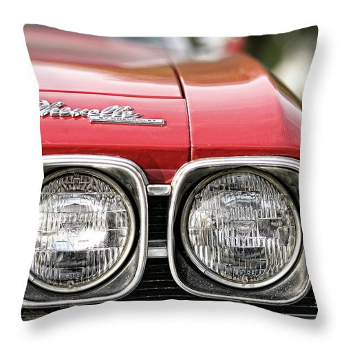 1969 Throw Pillow featuring the photograph 1969 Chevrolet Chevelle Ss 396 by Gordon Dean II