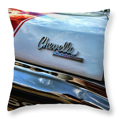 1970 Throw Pillow featuring the photograph 1970 Chevy Chevelle Ss 396 Ss396 by Gordon Dean II