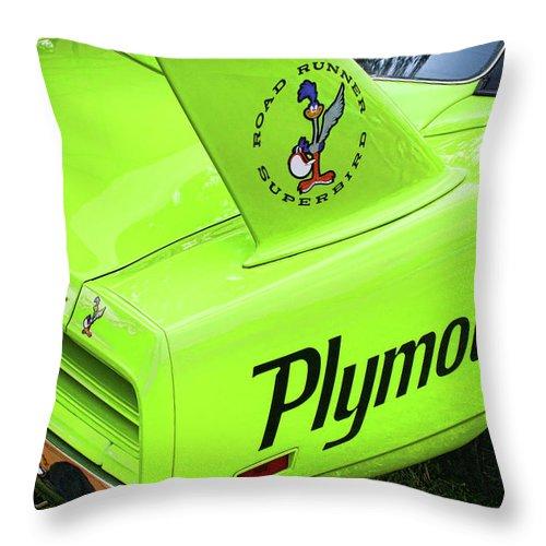 1970 Throw Pillow featuring the photograph 1970 Plymouth Superbird by Gordon Dean II