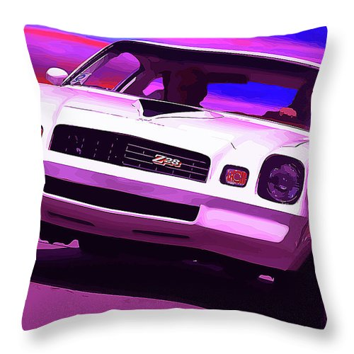 1977 Throw Pillow featuring the photograph 1978 Chevy Camaro Z28 by Gordon Dean II