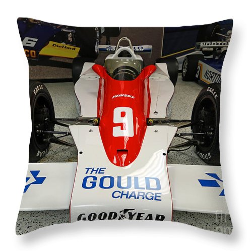 Indianapolis Throw Pillow featuring the photograph 1979 Indy 500 Winning Car Of Rick Mears by Steve Gass
