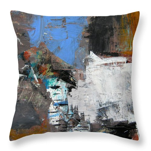 Modern Abstract Paintings Throw Pillow featuring the painting 1b12xyts2 by Diane Desrochers