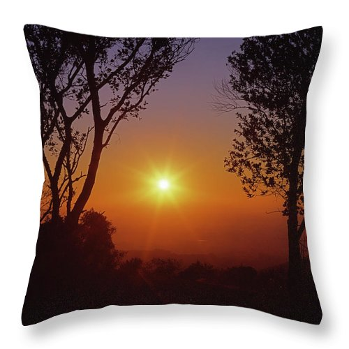 Sunrise Throw Pillow featuring the photograph 1b6348-a1 Sunrise Over Sonoma by Ed Cooper Photography