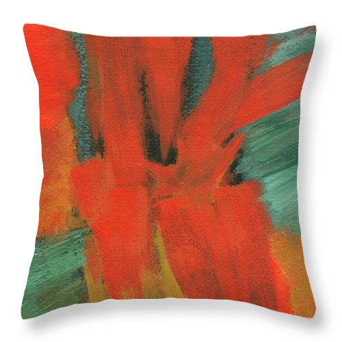 Abstract Throw Pillow featuring the painting A Moment In Time by Itaya Lightbourne
