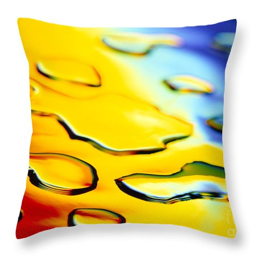 Abstract Throw Pillow featuring the photograph Abstract Water by Tony Cordoza