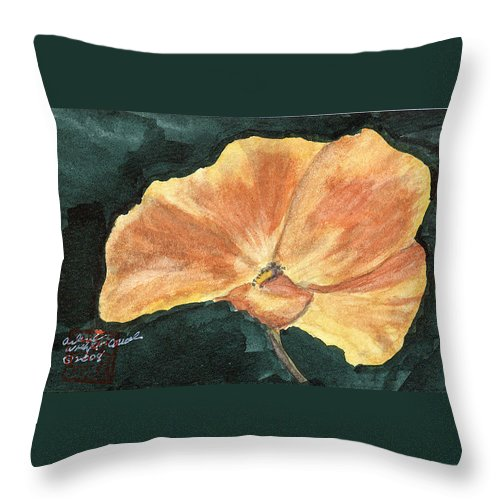 Poppy Throw Pillow featuring the painting Arlene by Arlene Wright-Correll