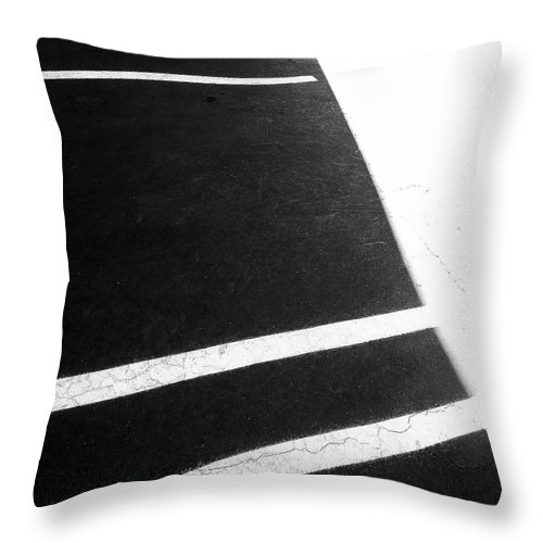 Abstract Throw Pillow featuring the photograph Black And White by Fei A