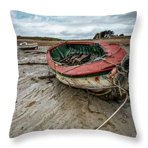 Boat Throw Pillow featuring the photograph Boats By The Sea by Nailia Schwarz