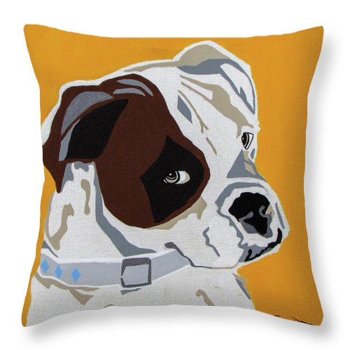 Boxer Throw Pillow featuring the painting Boxer by Slade Roberts