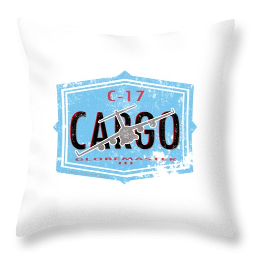 C-17 Throw Pillow featuring the digital art C-17 Cargo by Clear II land Net