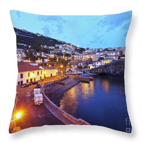 Portugal Throw Pillow featuring the photograph Camara De Lobos, Madeira by Karol Kozlowski