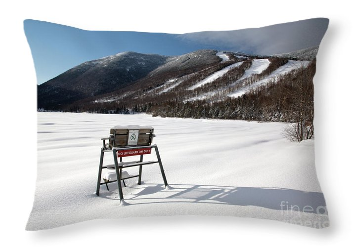 Franconia Notch State Park Throw Pillow featuring the photograph Cannon Mountain - White Mountains New Hampshire Usa by Erin Paul Donovan